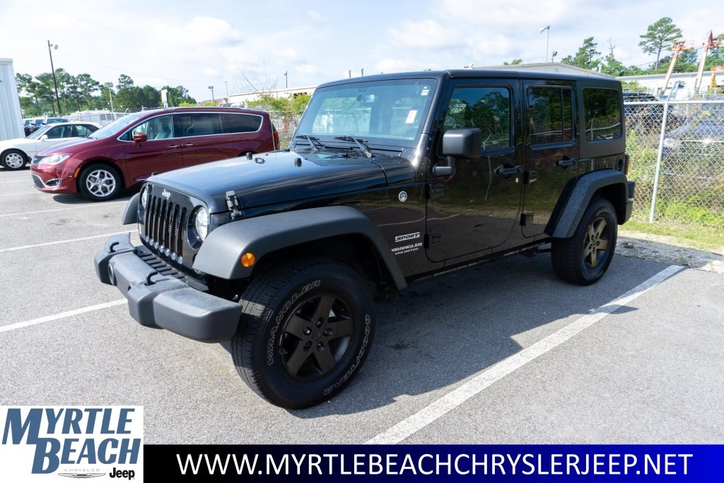 Jeep Certified Pre-Owned >> Certified Pre Owned 2017 Jeep Wrangler Unlimited Sport S 4d Sport